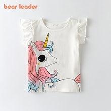 Bear Leader-Camiseta de unicornio Unisex para niños y niñas, camisetas blancas de manga corta, Tops de algodón para bebés, ropa de verano