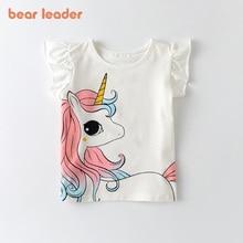 Unicorn T-Shirt Tops Short-Sleeves Girls Clothes Bear Leader Baby Boys Kids Fashion Children