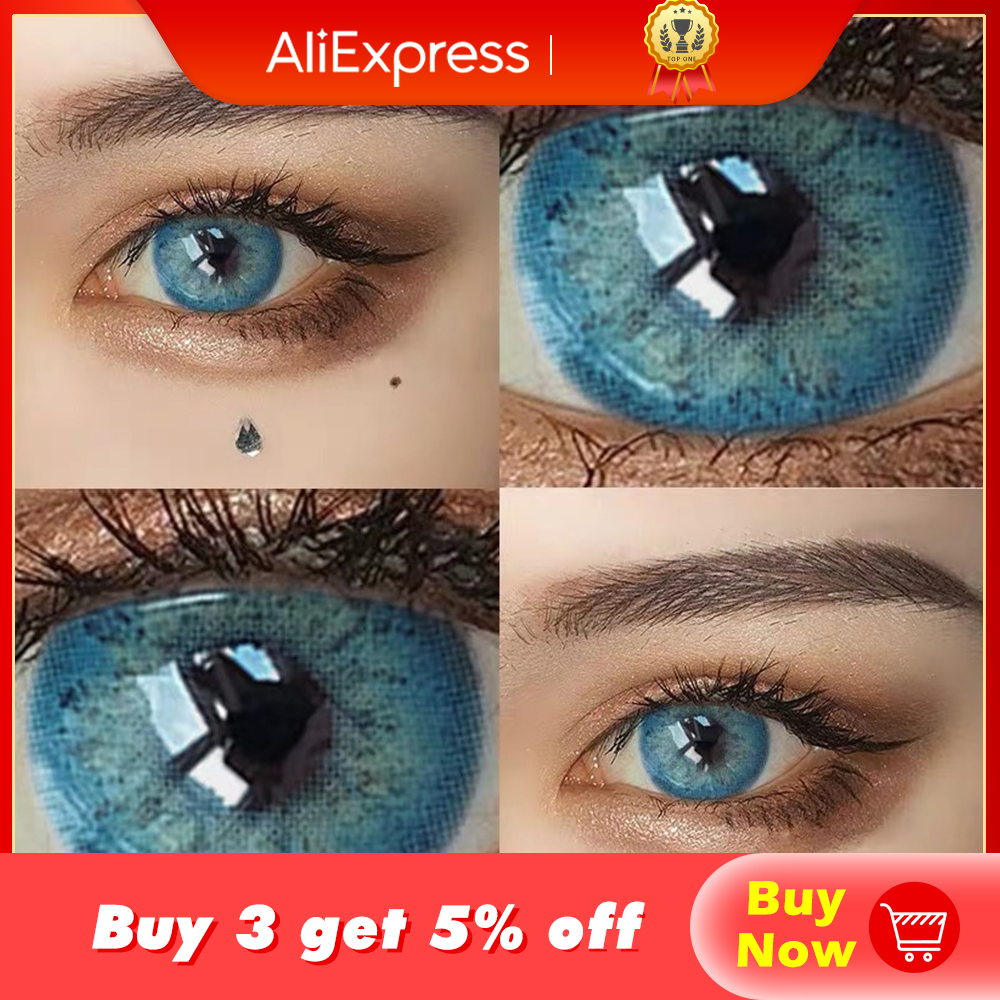 KSSEYE 1pair RussianGirl Taylor DNA Colored Contact Lenses Cosmetic Contacts Natural Color Lens