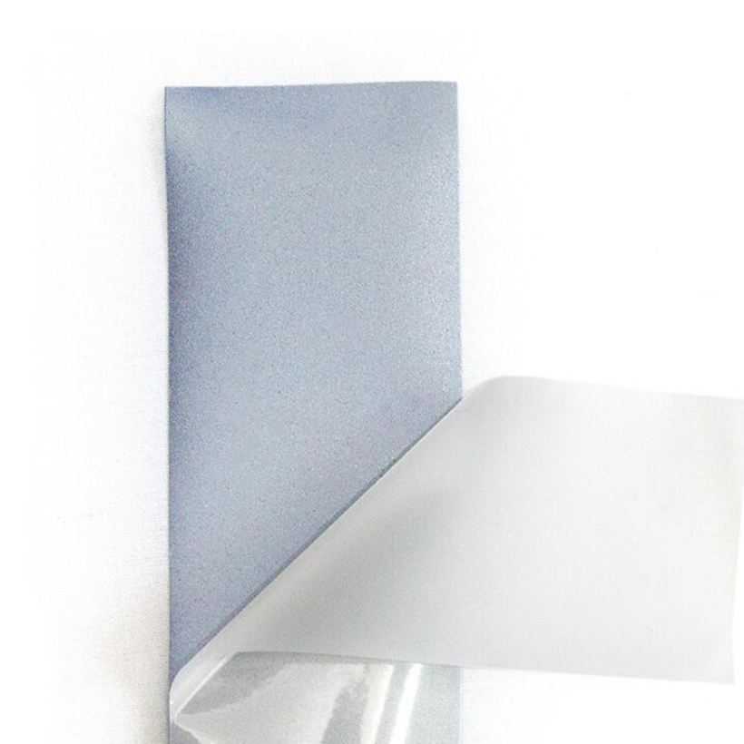 Купить с кэшбэком EN20471 and ANSI standard high quality Silver reflective heat transfer film