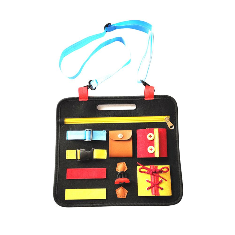 32*28*10cm Toddlers Busy Felt Board Baby Toys Basic Skills Activity Board Educational Learning Toys