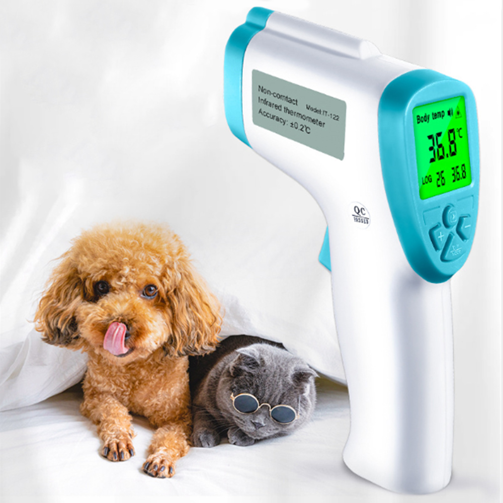Digital Pet Thermometer Non-contact Infrared Veterinary Thermometer Temperature Meter For Dogs Cats Pet Supplies