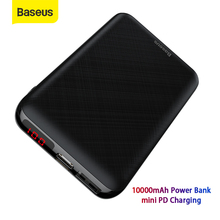 Baseus Mini 10000mAh Power Bank Portable Charger USB Type C Powerbank Small External Battery Pack Bank Travel Charging For Phone