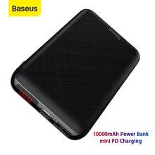 Baseus Mini 10000mAh قوة البنك المحمولة شاحن USB نوع C Powerbank بطارية خارجية صغيرة حزمة البنك السفر شحن للهاتف