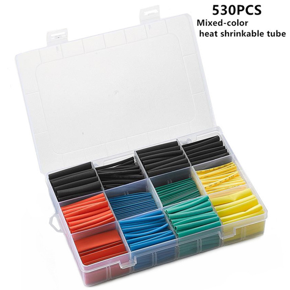 530PCS Insulation Heat Shrink Tube Assortment Wire Cable Sleeve Kit Heat Shrink Tube DIY Connector Repair Dropshipping