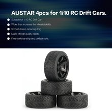 AUSTAR AX 4pcs 64mm Hard Plastic Rim Tyre Tire Wheel for 1/10 RC Drift Car Model HSP HPI Component Spare Parts Accessories f17675 7 jmt 4pcs 38mm 1 20 rubber tire model wheel diy robot accessories toy parts for rc car