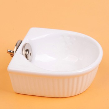 Ceramic Water Food Feeder Pet Anti-overturned Food Bowl Feeding Dish Hamster Parrot Food Bowl Small Animal Cage Bowl 1