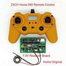 23CH 2.4G Huina 580รีโมทคอนโทรล7.4V/12V 4.5Vเครื่องส่งสัญญาณสำหรับRC Excavator DIY