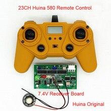 23CH 2.4G Huina 580 Remote Controller 7.4V/12V Receiver Board 4.5V Transmitter for RC Excavator Parts DIY