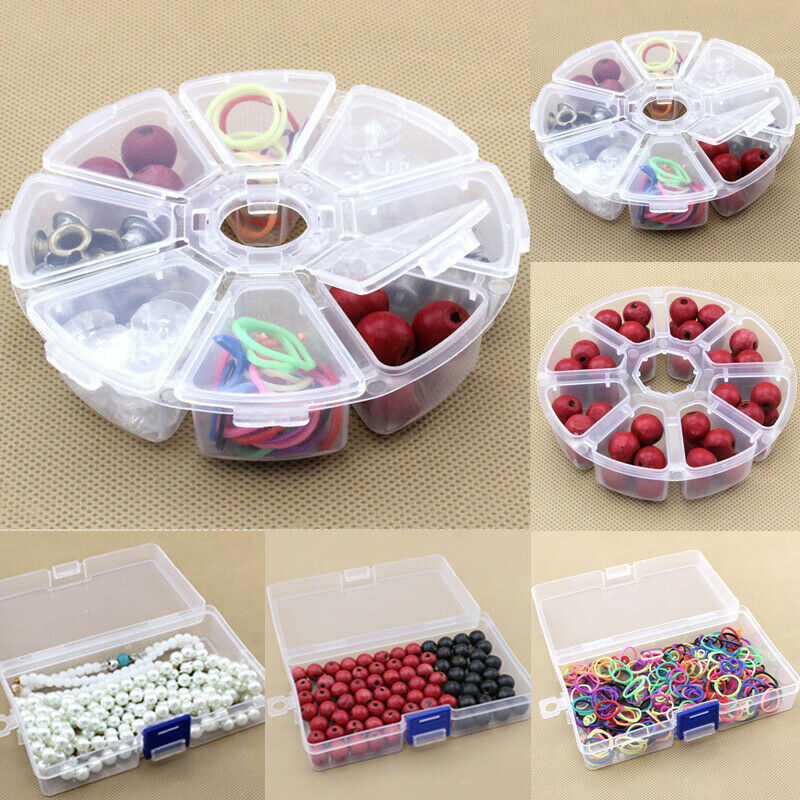 2020 HOT 8 Slots Storage Box Case <font><b>Organizer</b></font> Display Jewelry Accessories Sorts <font><b>Bead</b></font> Compartment <font><b>Bead</b></font> Hairpin Continer Boxes image