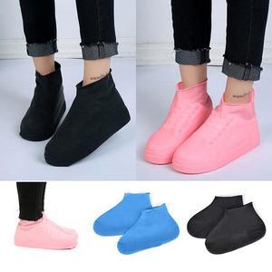 1 Pair Reusable Latex Waterproof Waterproof Rain Shoes Covers Slip-resistant Rubber Rain Boot Overshoes S/M/L Shoes Accessories