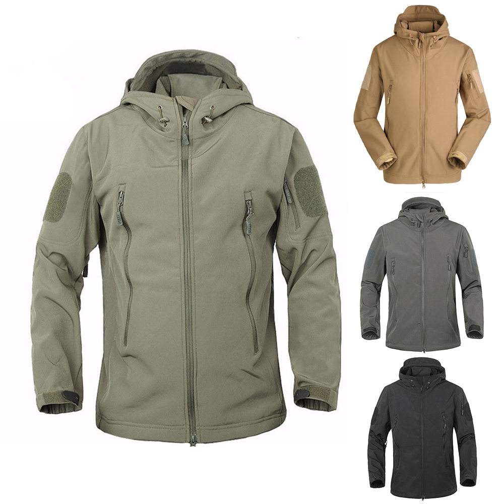 2019 Outdoor Waterproof SoftShell Jacket Hunting Windbreaker Ski Coat Hiking Rain Camping Fishing Tactical Clothing Men&Women
