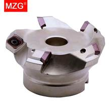 MZG KM12R50-22-4T Four SEKT1204 Carbide Insert Clamped Fast Feeding Alloy End Mill Milling Machining Slab Face Milling Cutter