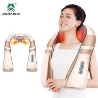 Jinkairui masajeador de cuello de espalda eléctrico aliviar el dolor con el vibrador de calor mejor regalo hombres mujeres papá mamá navidad regalo de San Valentín