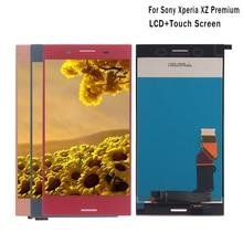 Para Sony Xperia xz Premium G8142 E5563 LCD pantalla digitalizador montaje de cristal para Sony Xperia xz P pantalla LCD herramientas gratis
