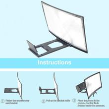 12 Inches 3D Hd Phone Screen Magnifier Movie Video Amplifier Holder Enlarger Screen Smart Phones Magnifying Bracket