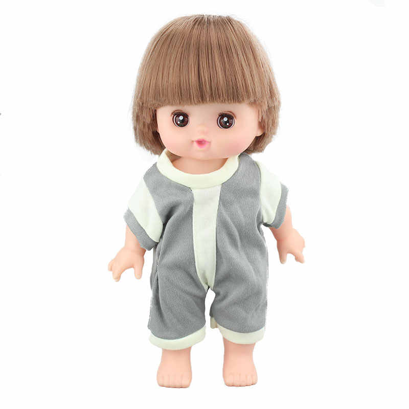 Piękny kombinezon w paski do 25cm Mellchan ubrania dla lalki akcesoria