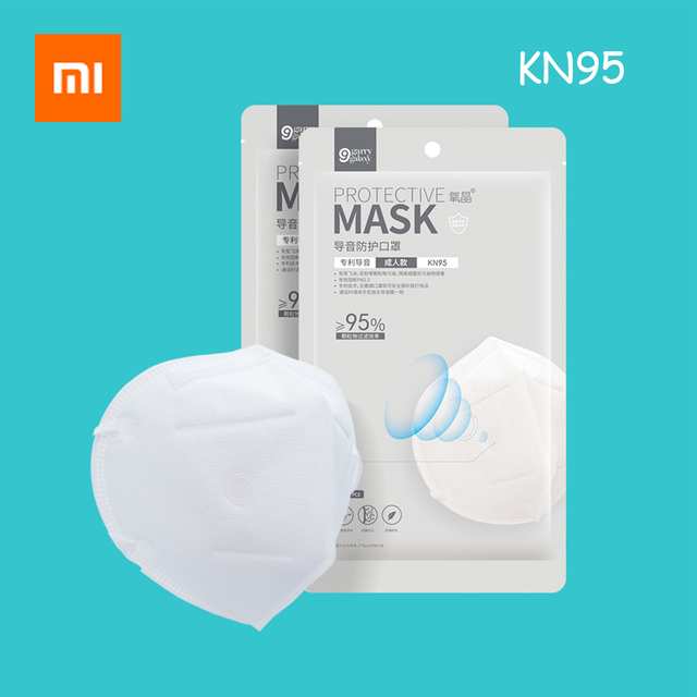 1PC Xiaomi Youpin KN95 Mask Antivirus Flu Anti Infection Masks Particulate Respirator PM2.5 Protective Safety Same as KF94 FFP2