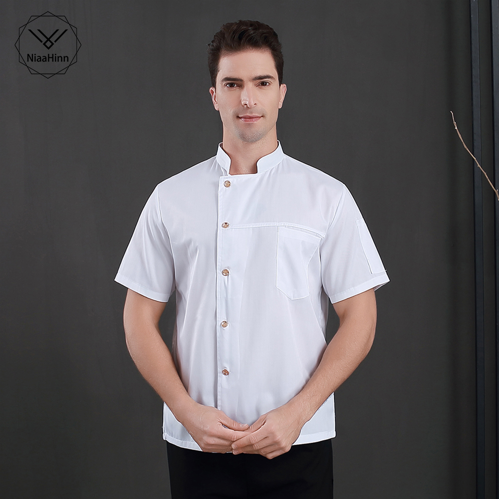 Short Sleeves Sushi Uniform Breathable Chef Jackets High Quality Food Service Chef Uniform Restaurant Hotel Chef Clothes Unisex