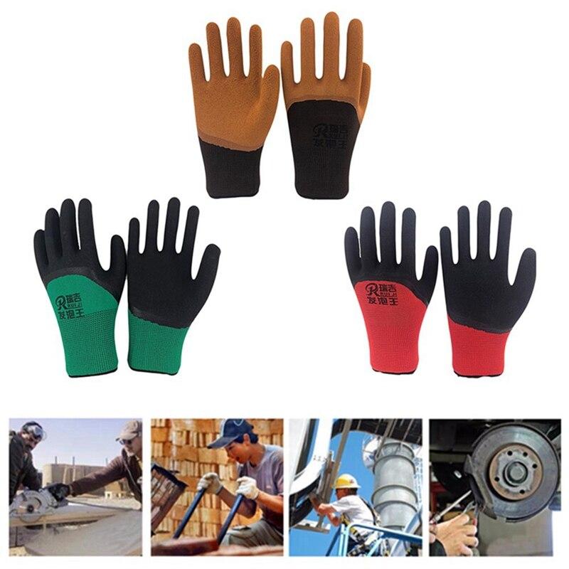 Hot Sale 2019 Nylon Spandex  Microfine Foam Gloves Nitrile Safety Working Gloves Men-in Safety Gloves