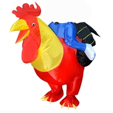 Funny Inflatable Rooster Chicken Costume Halloween Party Fancy For Adults Carnival Costumes Christmas Birthday Gift