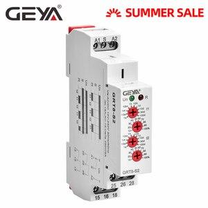Relé de tiempo de ciclo GEYA ajustable AC220V 16A AC/DC12V-240V relé de repetición SPDT temporizador relé eléctrico de protección asimétrica