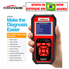 KONNWEI KW850 obd2 tarayıcı çoklu dil tam OBD 2 fonksiyonu otomatik teşhis aracı kw 850 daha iyi Autel AL519 NX501 AD310