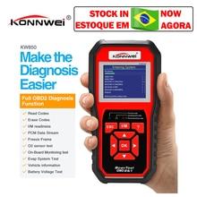 Konnwei KW850 OBD2 Máy Quét Nhiều Ngôn Ngữ Full OBD 2 Chức Năng Tự Động Công Cụ Chẩn Đoán KW Tốt Hơn 850 So Với Autel AL519 NX501 AD310