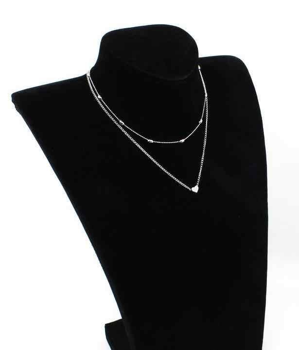 Pingentes de coração minúsculo para mulheres corrente de prata ouro smalll amor colar pingente no pescoço boêmio pingentes jóias