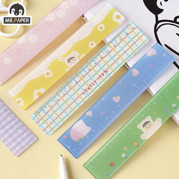 Mr.paper 8 Designs Colorful Lovely Sakura Memo Pads Ruler Multifunction DIY Drawing Rulers Double-duty School Office Supplies - discount item  23% OFF Drafting Supplies