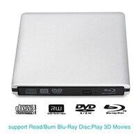 Portable External Blu Ray USB 3.0 DVD Drive CD/DVD RW Writer Player For Laptop Notebook PC Computer Optical Drive