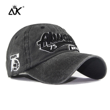 Embroidered Washed Baseball Cap Men Summer Hats Fashion Truc