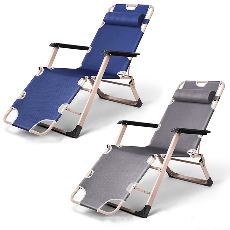 Deck Chair Folding Chair Siesta Chair Dual Purpose Chair Folding Bed Leisure Time Chair Oxford Cloth Both Sides Tube