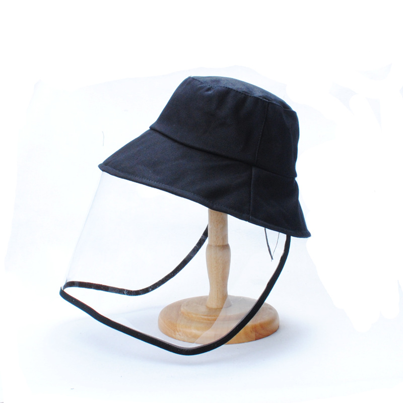 Cotton Safety Anti Virus Protection Bucket Hat Anti Dust  Anti Fog Outdoor Black Sun Hat For Face And Mouth