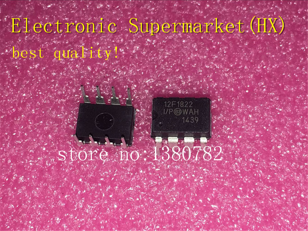 Free Shipping 50pcs/lots PIC12F1822-I/P  PIC12F1822 DIP-8 IC in stock!