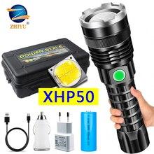 XHP50 4 코어 Led 손전등 전원 디스플레이 기능 토치 Usb 충전식 18650 또는 26650 배터리 Zoomable 알루미늄 합금 랜턴