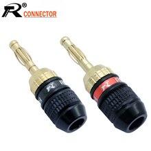 10 adet muz fiş yüksek kalite altın kaplama vida tipi lehimsiz muz tel bağlayıcı amplifikatör hoparlör kablosu konnektör