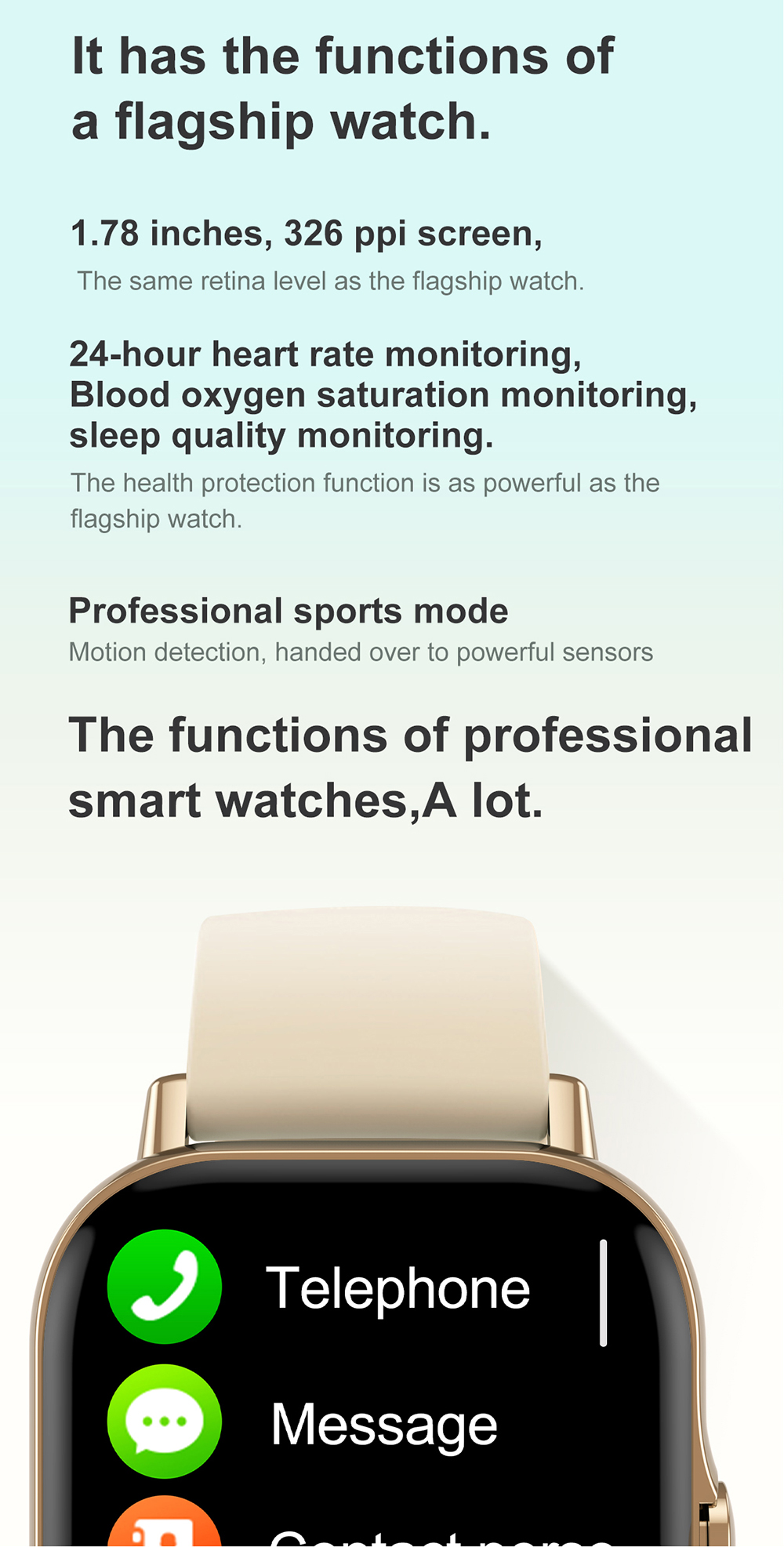 Hf0210fff0f63435dbf441816fa67f7f5H For Xiaomi IOS Apple Phone 1.78inch Smart Watch Android Men IP68 Waterproof Full Touch Woman Smartwatch Women 2021 Answer Call