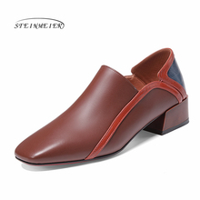 Women flats genuine leather shoes sneakers woman brogues vintage flat casual shoes laces oxford shoes for women 2020 spring