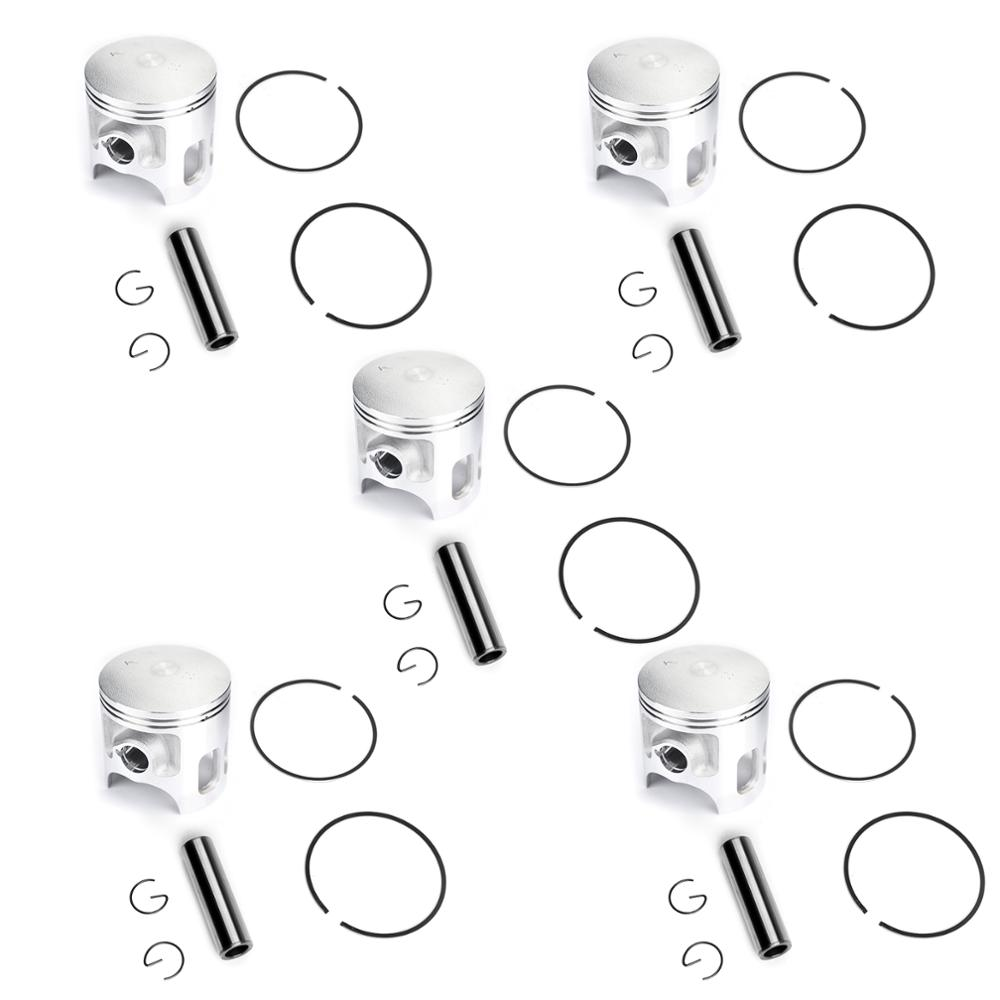 Areyourshop Motorcycle Bore Size STD 66mm Piston Kit For Yamaha DT200R +0.25 +0.50 +0.75 +1.00 1995-1996 Engine Part Motor rings image