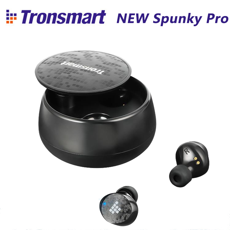 NEW Tronsmart Spunky Pro Bluetooth 5.0 TWS Earphones IPX5 Waterproof Earbuds Deep Bass Voice Assistant Wireless Charging Headset