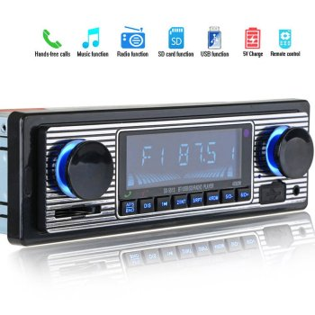 Auto Car Radio Bluetooth Vintage Wireless MP3 Multimedia Player AUX USB FM 12V OLED Classic Stereo Audio Player Car Electronic 12v in dash 1din car multimedia player car stereo radio fm input receiver usb bluetooth autoradio auto mp3 music player