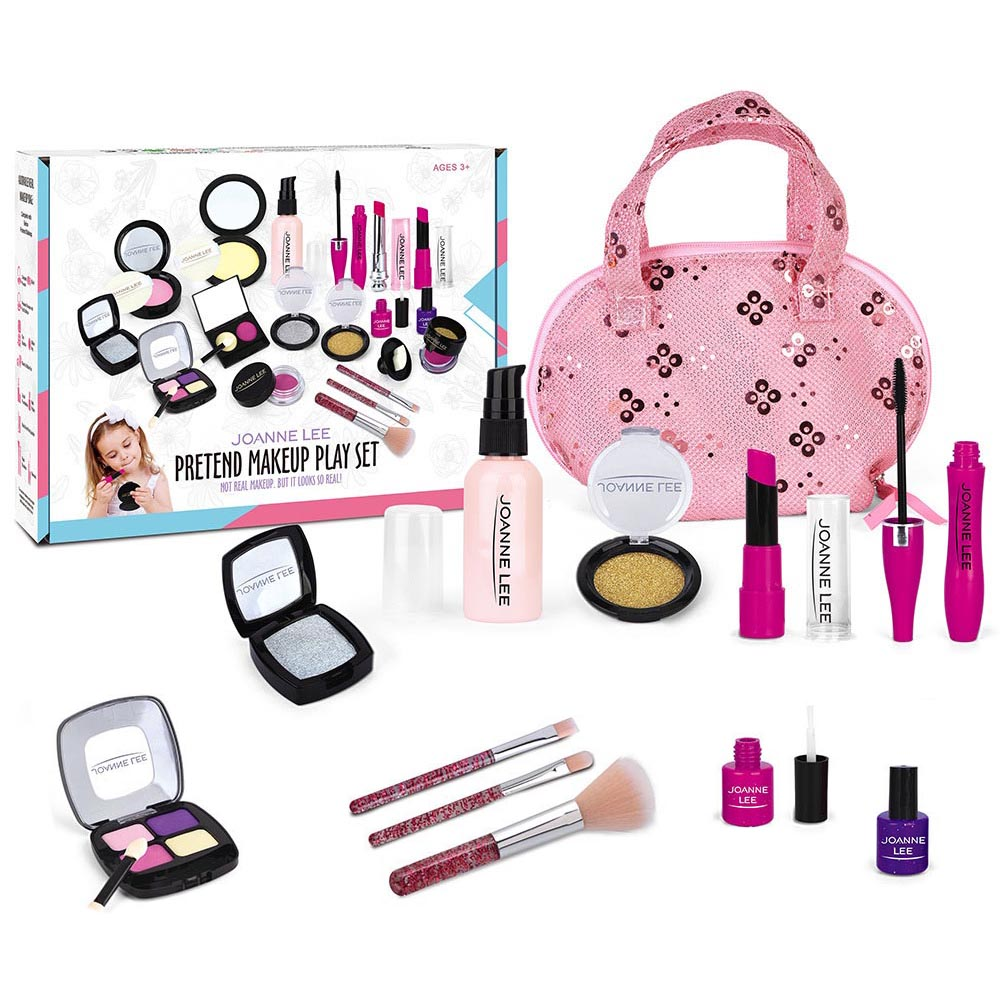 11Pcs Profession Girl Makeup Game Set Dress Up Girls Simulation Princess Makeup Bag Pretend Play For Girl Travel Toy For Kids
