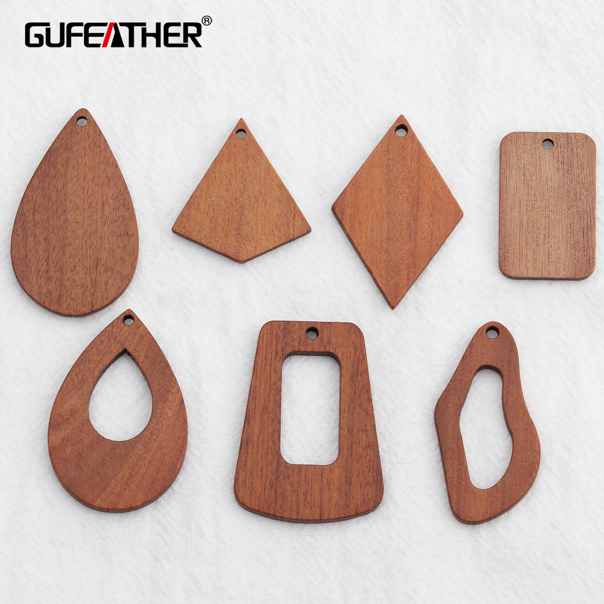 GUFEATHER M585,jewelry Accessories,natural Wood Accessories,jewelry Making,hand Made,jewelry Findings,diy Earrings Pendant,10pcs