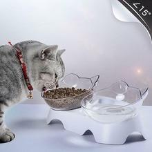 Anti-Vomiting Orthopedic Pet Bowl Cat Dog Food Water Feeder Feeding Dishes TN99