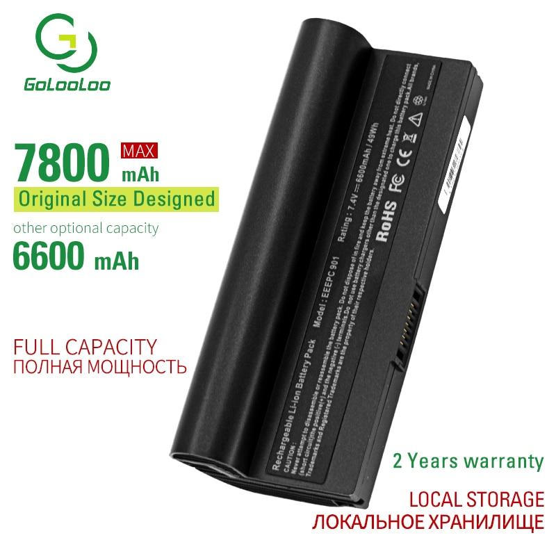 Golooloo 7800mAh New Laptop Battery For Asus Eee PC 1000 1000H 1000HA 1000HD 904HD 1000HE 1000HG 870AAQ159571 AL23-901 AL24-1000