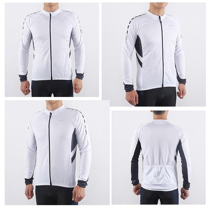 Купить с кэшбэком ARSUXEO Men's  Long Sleeve Cycling Jersey Quick Dry Bicycle  Shirts Full Zipper Mountain Bike Jerseys MTB Clothing Wear 6030