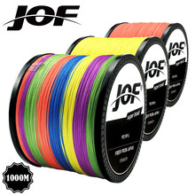 Multicolor 8 Strands 300M 500M 1000M PE Braid Angelschnur Meer Salzwasser Angeln Weben 100% Supermacht JOF(China)