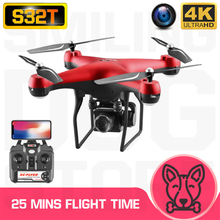 "RC Quadcopter S32T Drone 4K HD ESC רחב זווית מצלמה WIFI FPV החזקת גובה Selfie ""טים מקצועי 25 דקות טיסה זמן"