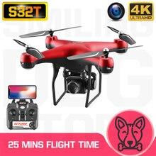 Zdalnie sterowany Quadcopter S32T Drone 4K HD ESC szerokokątny aparat WIFI FPV wysokość gospodarstwa Selfie drony profesjonalny 25min czas lotu